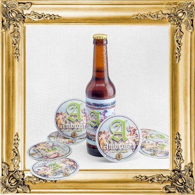 Ambrosia-Bier, 1 Flasche + Bierdeckel
